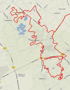 route veldtoertocht Mill